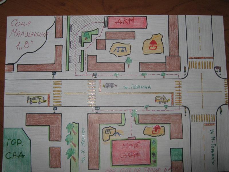 Марта, схема маршрута мой город технология 3 класс в картинках
